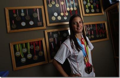 Claudia Rivero (*Lima, 28 de noviembre de 1986 - ) es una deportista peruana que practica el bádminton