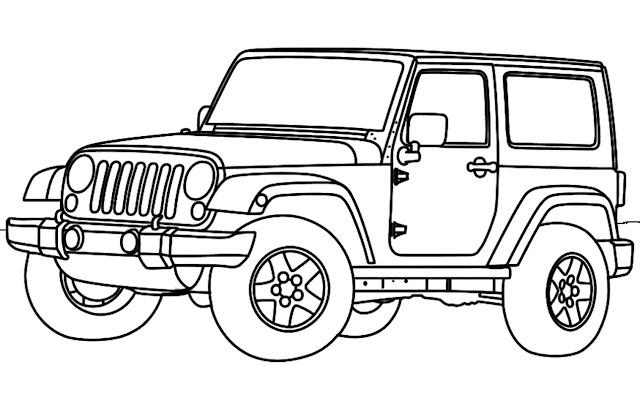 Único Jeep Wrangler Para Colorear Ideas - Páginas Para Colorear ...