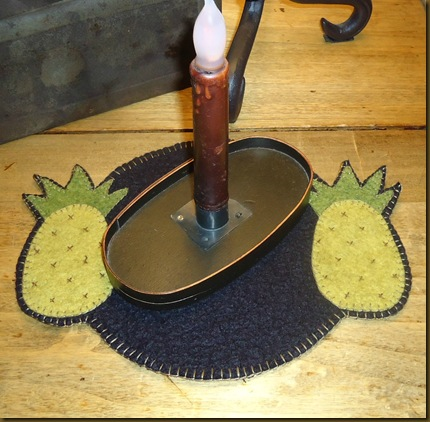 Pineapple Candle Mat