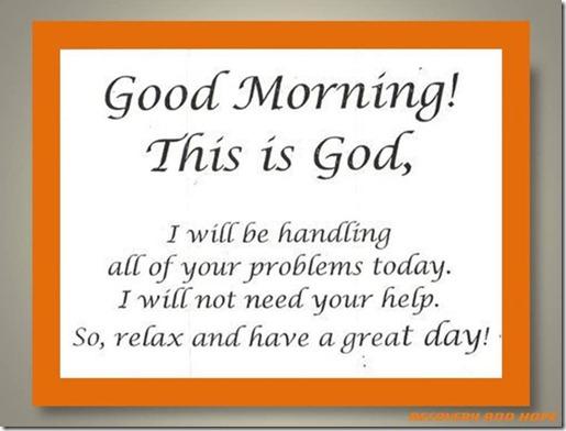 god morning