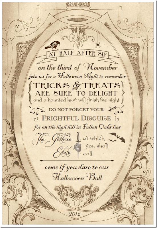 fallen oaks invite