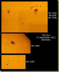 17 September 2011 Sunspot Close-ups