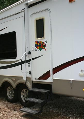 map on camper