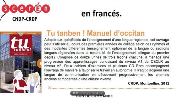 tu tanben ensenhament d el'occitan en francés