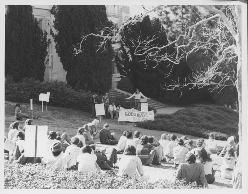 UCLA (University of California, Los Angeles) demonstration. 1975.