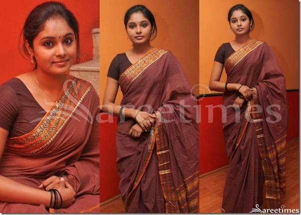 Arundhati_Brown_Cotton_Saree