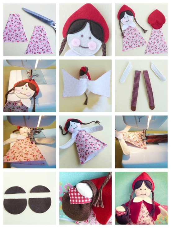 cafe creativo - Little Red Riding Hood Doll (4)