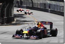 Vettel al volante della Red Bull nel gran premio di Monaco 2011