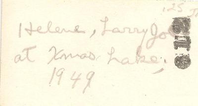 helene and Larry Jo 1949 DL Antiques back