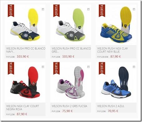 Zapatillas de Pádel Wilson 2014. Conoce los principales modelos de la firma.
