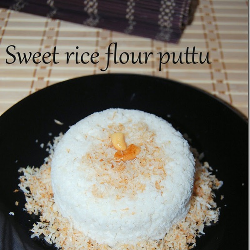 Sweet rice flour puttu