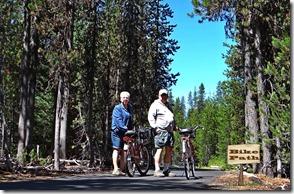 Lake bike ride and chipmunks 023 w sign