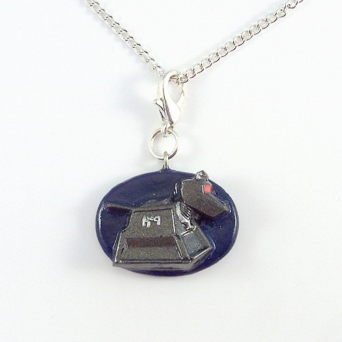 k-9 Doctor Who Companion Charm Pendant and Necklace from The Clay Pony