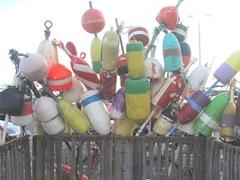 11.2011 lobster buoys provincetown docks