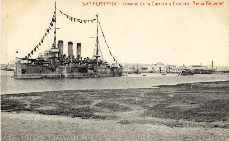 El REINA REGENTE en la Carraca. Coleccion Juan Antonio Padron Albornoz. Universidad de La Laguna. Puerto Autonomo de Tenerife.jpg