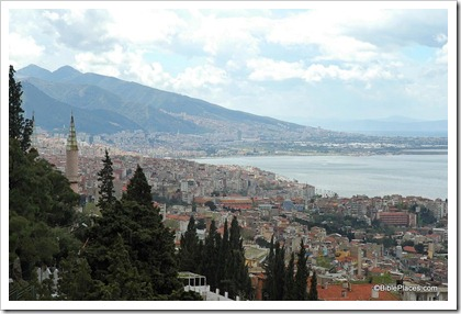 Smyrna, Izmir, modern city from acropolis, tb041405528