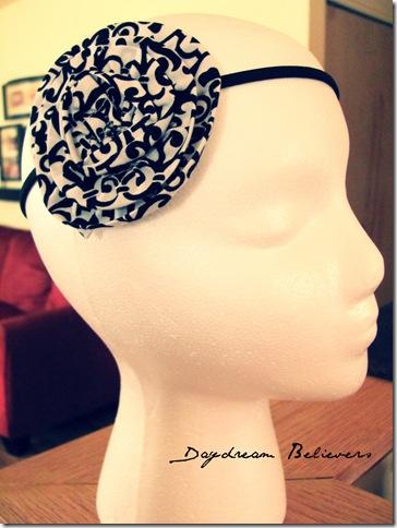 handmade flower headband