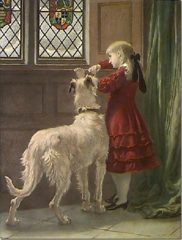 Briton Rivière,  Fillette et  son chien