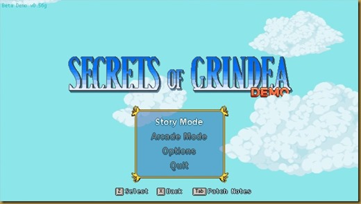 Secrets of Grindea タイトル