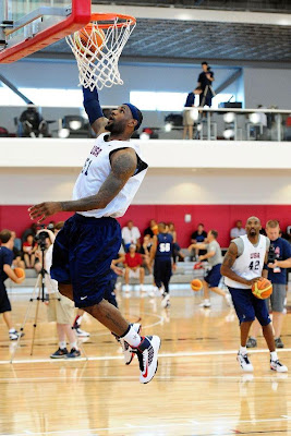lebron james usa 120709 training camp 04 LeBron Unveils Both Lunar Hyperdunk and Soldier 6 During USAB Team Practice