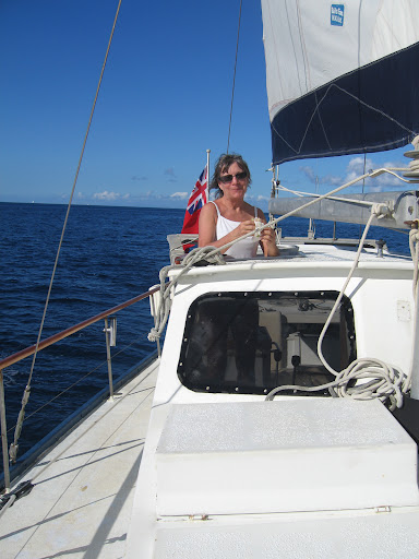 Susie at the helm