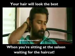 parents reaction after seeing my hair cut   funny tamil
