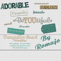 Tranquility Beach - Word art