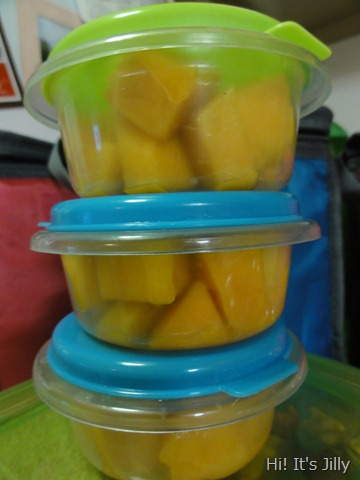 mango in plastic container