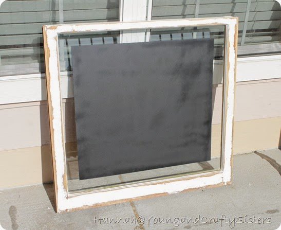 Window Pane Chalkboard 2