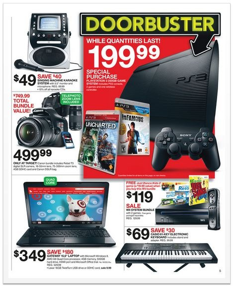 Target Black Friday 2012 ad - Doorbuster and gadget deals
