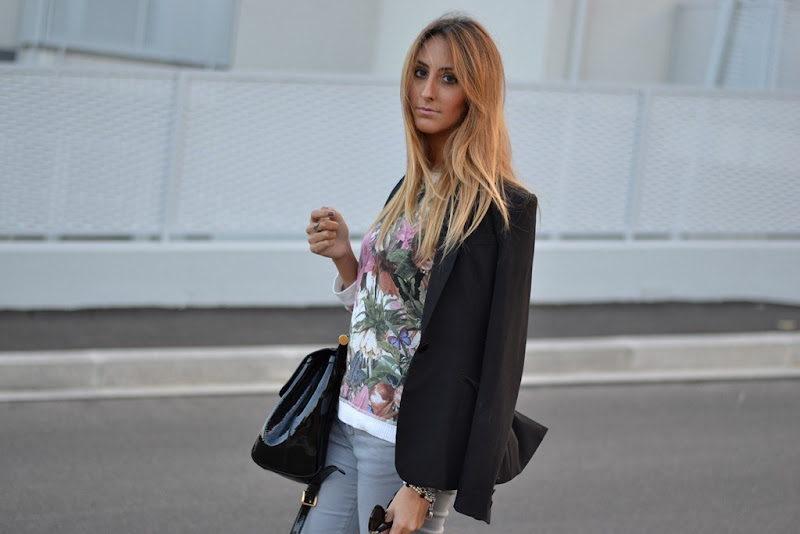 Zara, Floral, Animalier, Miss Sicily Bag, Dolce &amp; Gabbana Bag, Fashion Blogger, Fashion Blog, Italian Fashion Blogger, Rifle, H&amp;M Jacket, H&amp;M Blazer