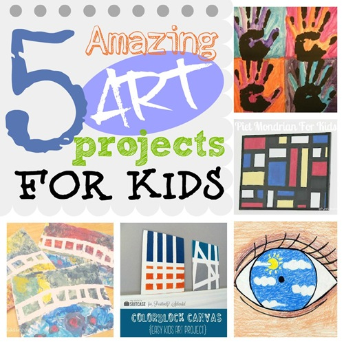 5 Amazing Art Projects for Kids @ ucreatewithkids.com