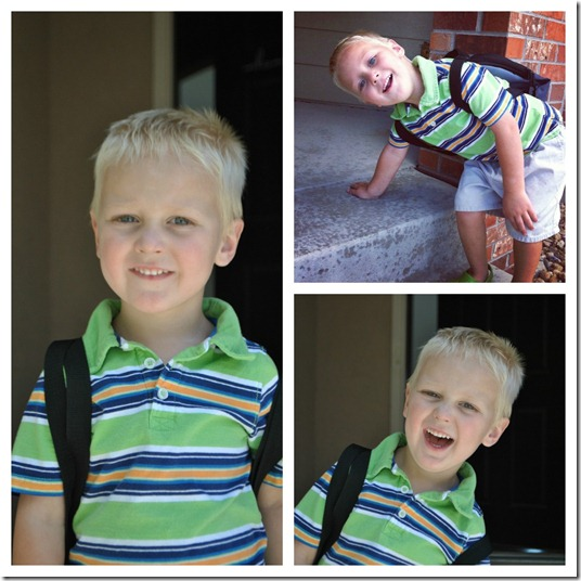 Blake's first day of preschool