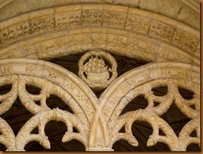 Lisbon, monastery cloister caravelle