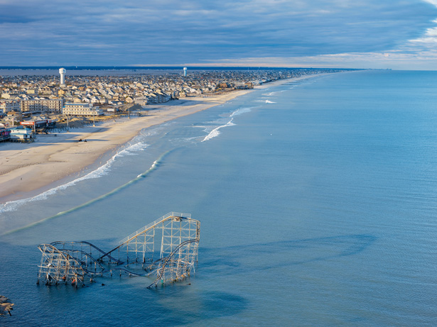 Aerial view of Seaside Heights after Hurricane Sandy. Photo: George Steinmetz / National Geographic