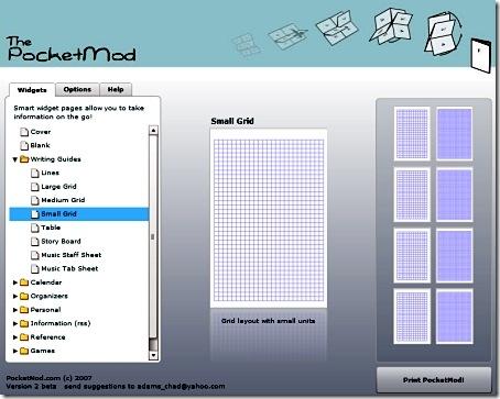 PocketMod  - одноразовый блокнот за 2 минуты