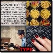 TYPE- 4 Pics 1 Word Answers 3 Letters