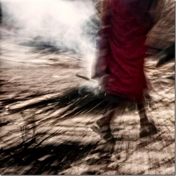© Luigi Fieni - Burning Juniper I  - Hahnemuehle PhotoRag 308 g - Lomanthang, Mustang, Nepal  - 2005