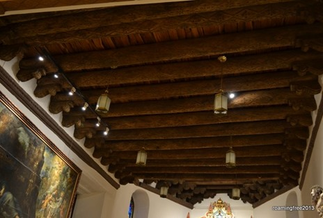 Original ceiling of the La Conquistadora Chapel