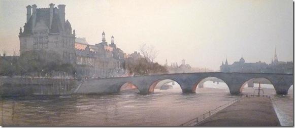 11 Le Louvre et le Pont Royal 42 x 100 cm
