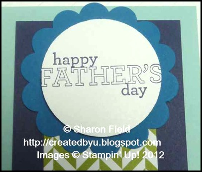 Alternative sentiment from delightful dozen stamp set for a fabulous father's day blue ribbon card