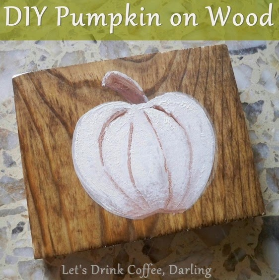 Pumpkin on Wood Banner