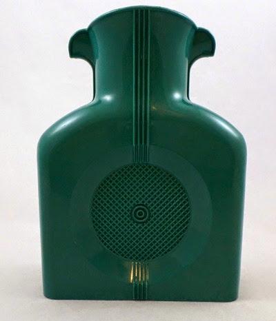 turquoise Shel Glo double spout pitcher