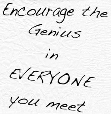 encourage the genius