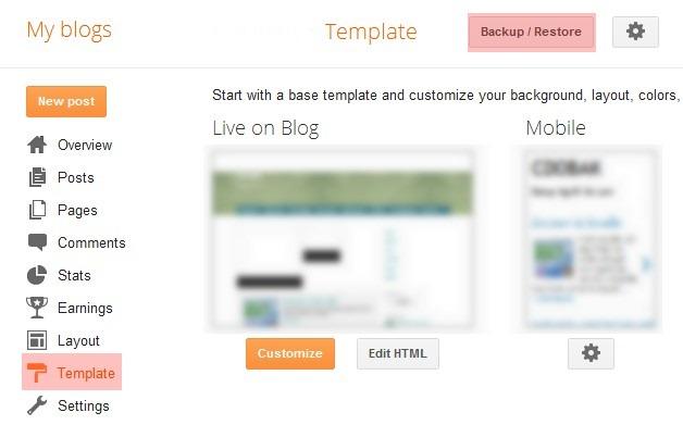 Blog thiết kế - Restore giao diện một blog