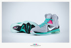 nike lebron 9 ps elite grey candy pink 9 40 sneakerbox LeBron 9 P.S. Elite Miami Vice Official Images & Release Date