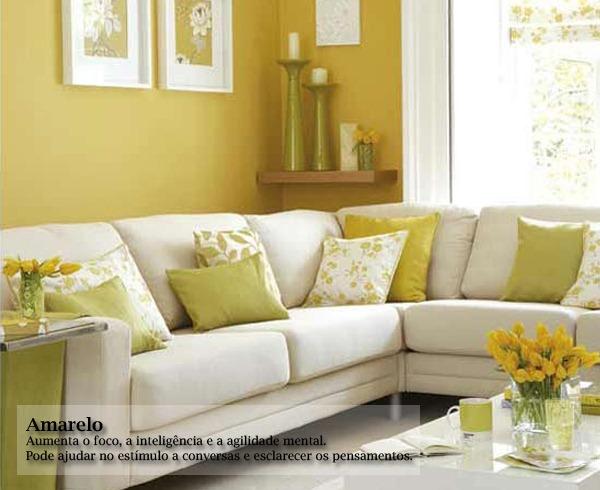 Sala De Estar Em Amarelo ~ Gaveta Virtual Significado das cores na decoração
