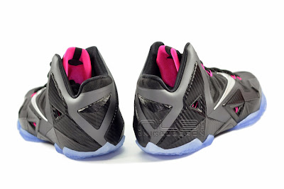 lebron11 miami nights 10 web white The Showcase: Nike LeBron XI Miami Nights Carbon