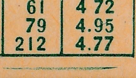 1959 Topps 384 Dave Sisler back variation 4
