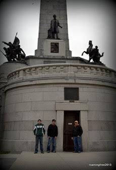 Tom and the boys at the Memorial